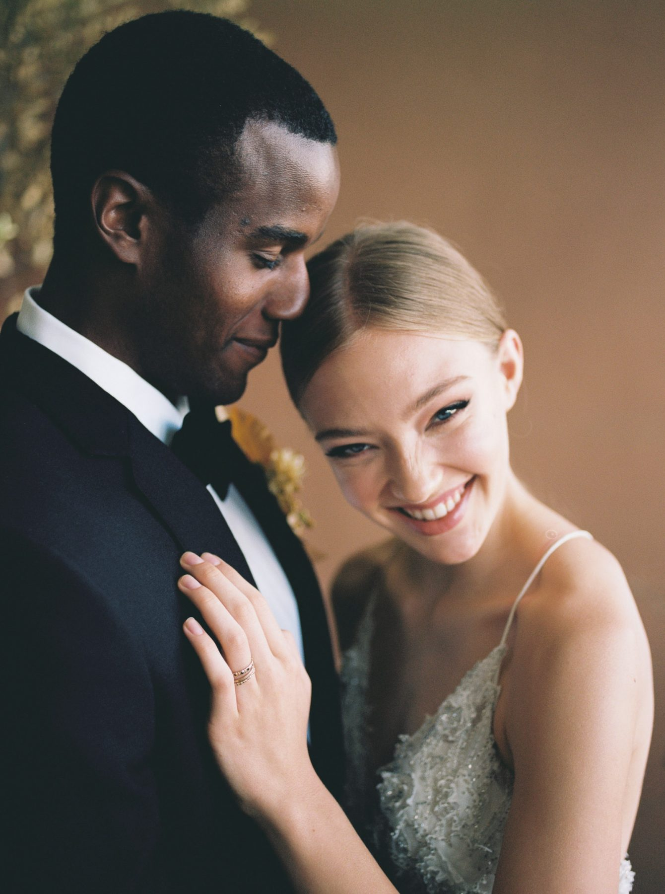Bride and Groom Laughing at One Eleven East in Austin, Texas